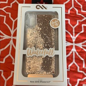 2018 iPhone 6.5 waterfall gold phone case